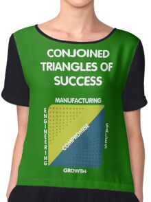 Conjoined Triangles of Success - Silicon Valley Chiffon Top