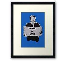 Brexit or bust! Framed Print