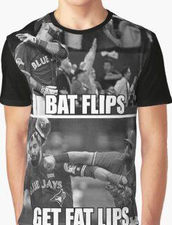 Bat Flips Get Fat Lips Graphic T-Shirt