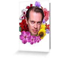 Steve Buscemi - Floral Greeting Card
