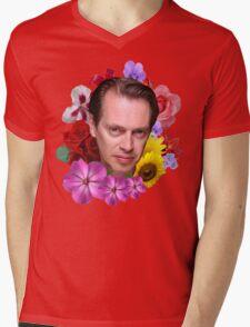 Steve Buscemi - Floral Mens V-Neck T-Shirt