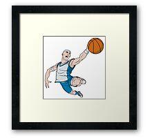 Basketball player pose Framed Print