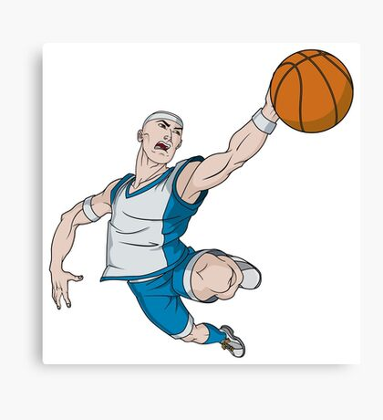 Basketball player pose Canvas Print