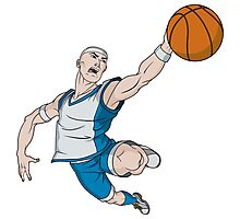 Basketball player pose Photographic Print