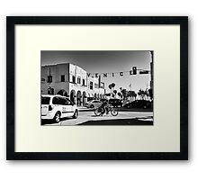 Cruising Pacific Avenue - Venice Beach California USA Framed Print
