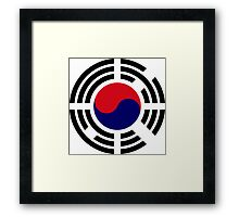 Korean Flag 1.0 Framed Print