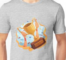 Funny cartoon sporting trophy design Unisex T-Shirt