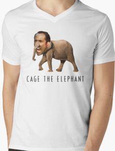 Nicolas Cage The Elephant Mens V-Neck T-Shirt