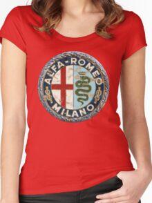 ALFA ROMEO RETRO BADGE Women's Fitted Scoop T-Shirt