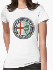 ALFA ROMEO RETRO BADGE Womens Fitted T-Shirt