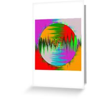 Colour Interference Greeting Card