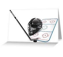 Ice hockey sports equipment Greeting Card