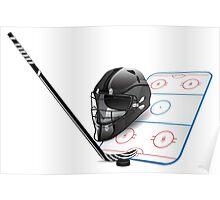 Ice hockey sports equipment Poster