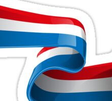 Abstract 3d France flag football ribbon tails Sticker