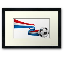 Abstract 3d France flag football ribbon tails Framed Print