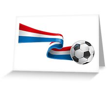 Abstract 3d France flag football ribbon tails Greeting Card