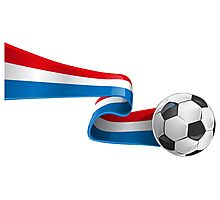 Abstract 3d France flag football ribbon tails Photographic Print