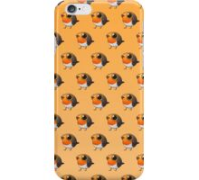 Cute Fat Robin iPhone Case/Skin