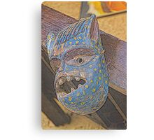 wooden mask Canvas Print