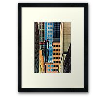 Melbourne Cityscape by Gaye G Framed Print