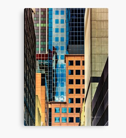Melbourne Cityscape by Gaye G Canvas Print
