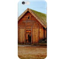 Sod Roofed Wooden Chapel iPhone Case/Skin