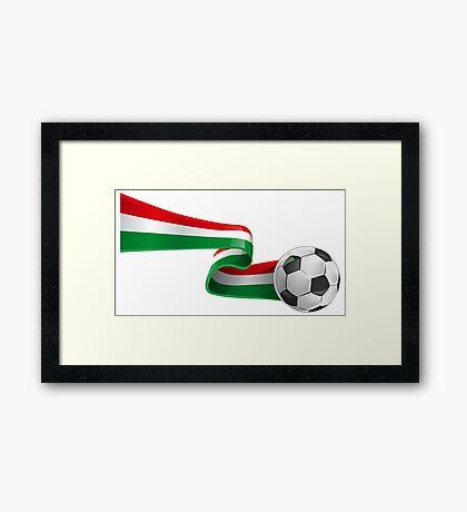 Abstract 3d Italy flag football ribbon tails Framed Print