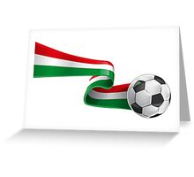 Abstract 3d Italy flag football ribbon tails Greeting Card