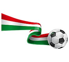 Abstract 3d Italy flag football ribbon tails Photographic Print