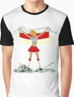 Poland soccer girl Graphic T-Shirt