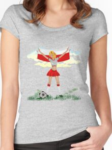 Poland soccer girl Women's Fitted Scoop T-Shirt