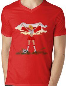 Poland soccer girl Mens V-Neck T-Shirt