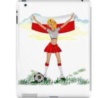 Poland soccer girl iPad Case/Skin