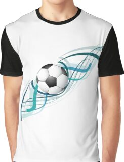 Abstract football colorful line wave design Graphic T-Shirt
