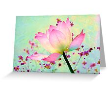 Watercolored Water Lily Greeting Card