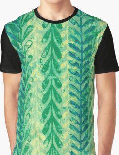 Vine Pattern - Green Graphic T-Shirt