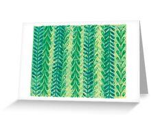 Vine Pattern - Green Greeting Card