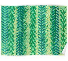 Vine Pattern - Green Poster