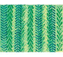 Vine Pattern - Green Photographic Print