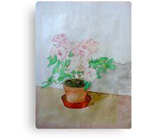 Watercolour Plant (Azalea) Canvas Print