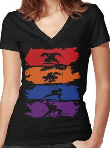 Teenage Mutant Ninja Turtles - New - Official Women's Fitted V-Neck T-Shirt