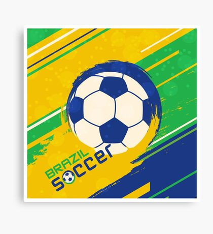 Brazil soccer world cup background Canvas Print
