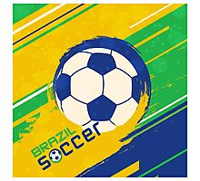 Brazil soccer world cup background Photographic Print