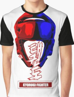 taekwondo kyorugi fighter korean martial art kick and punch Graphic T-Shirt