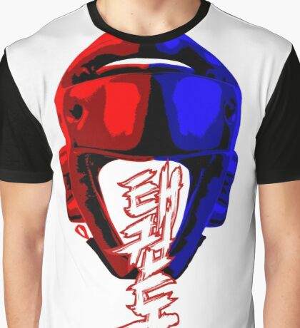 taekwondo kyorugi fighter korean martial art kick and punch Graphic T-Shirt
