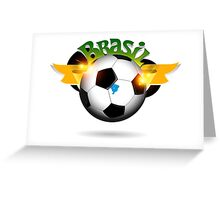 Brazil soccer ball Greeting Card