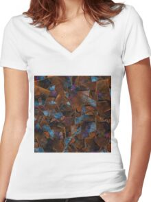 Fragments In Bronze Women's Fitted V-Neck T-Shirt
