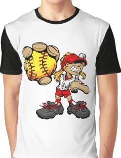 Funny cartoon baseball player Graphic T-Shirt