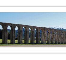 Panoramic View of Roman Aqueduct Sticker