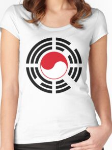 Korean Indonesian Multinational Patriot Flag Series Women's Fitted Scoop T-Shirt